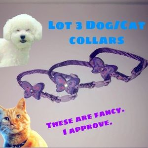 Lot of 3 Cat Collars Breakaway Style or dog